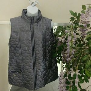 New Directions Quilted Gunmetal Vest